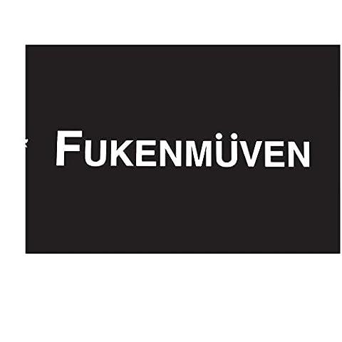 Fukenmuven V1 Decal Vinyl Sticker| BMW Volkswagen Audi Illest Stance|WHITE| 7 X 1.8 In|KCD377 (Illest Sticker White)