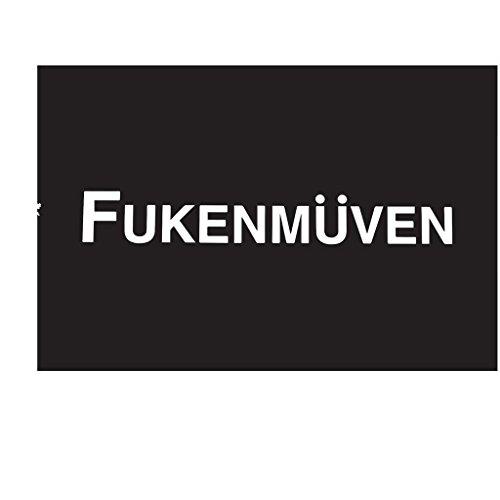Audi Tt Vinyl (Fukenmuven V1 Decal Vinyl Sticker| BMW Volkswagen Audi Illest Stance|WHITE| 7 X 1.8 In|KCD377)