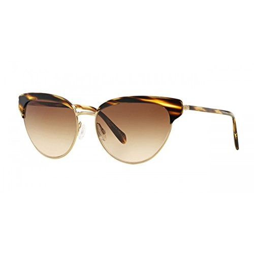 Oliver Peoples Josa Womens Sunglasses 523613 Cocobolo Brushed Gold / Umber - Peoples Cateye Glasses Oliver