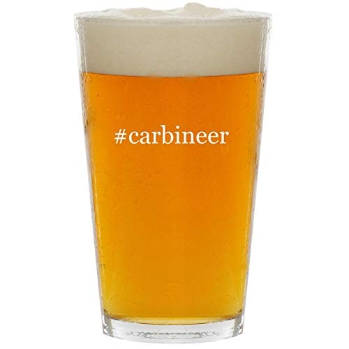 #carbineer - Glass Hashtag 16oz Beer Pint (Best Glock Carbine Conversion)