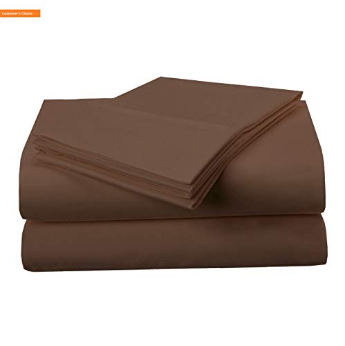 (Mikash New Soft 1500 Series Premium Quality 100% Brushed Soft Microfiber 3-Piece Luxury Deep Pocket Cooling Bed Sheet Set, Hypoallergenic, Wrinkle and Stain Resistant - Twin XL, Mocha   Style 84600573)