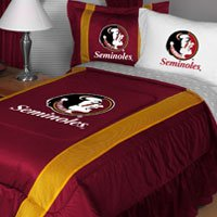 Florida State SIDELINES Full / Queen Jersey Material Comforter (Sideline Queen Comforter)