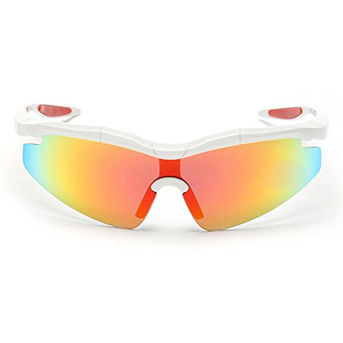 W-Q Cool Windproof UV400 Protection Outdoor Sport Polarized Cycling Riding Sunglasses(C4) (What To Wear To 80s Party)