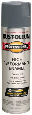 Rustoleum Professional 7587838 15 Oz Dark Machine Gray Gloss High Performance Enamel Spray Paint
