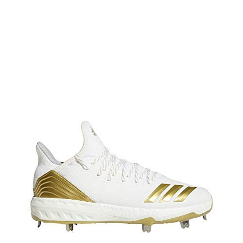 adidas Icon 4 Cleat - Men's Baseball 11 White/Gold Metallic by adidas (Image #6)