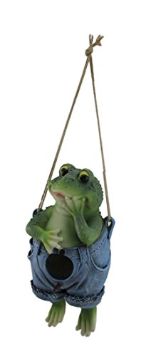 Zeckos Resin Bird Houses by The Seat of Their Pants Hanging Animal Bird House 4.75 X 9.5 X 4.5 Inches Green -