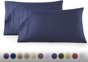 HC Collection 1500 Thread Count Egyptian Quality 2pc Set of Pillow Cases, Silky Soft & Wrinkle Free Sizes