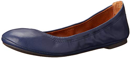 Lucky Brand Women's Emmie Ballet Flat, American Navy/Leather, 9.5 M US