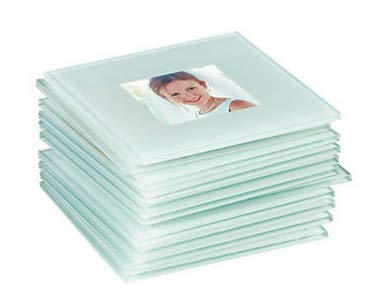 Glass Photo Coasters (1 Dozen) - DIY Picture -