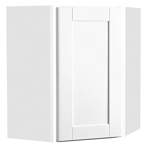 24x30x12 in. Shaker Wall Diagonal Cabinet in Satin White