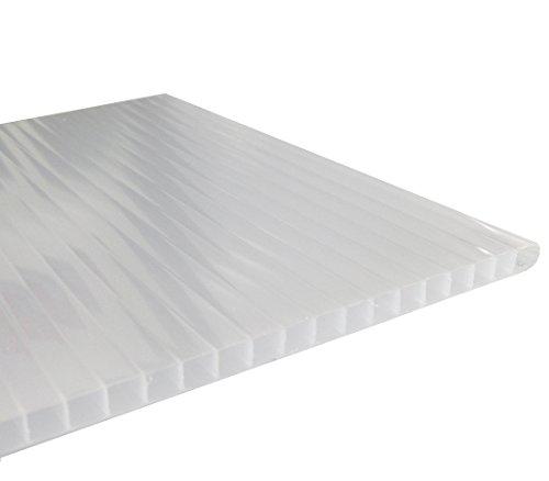 Andreas Ponto Stegplatte mit einseitiger UV-Koextrusion, Stärke 10 mm, opal, 210 x 1 x 150 cm, 425095580157