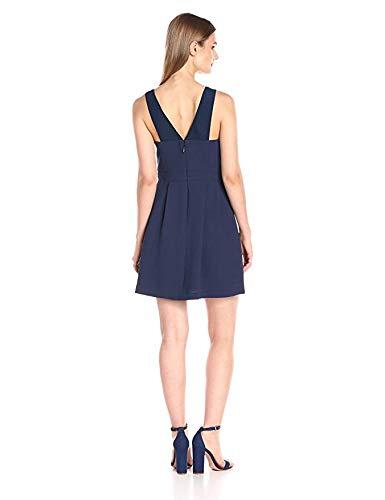 BCBGeneration Womens Woven Lace Insert Sleeveless Dress