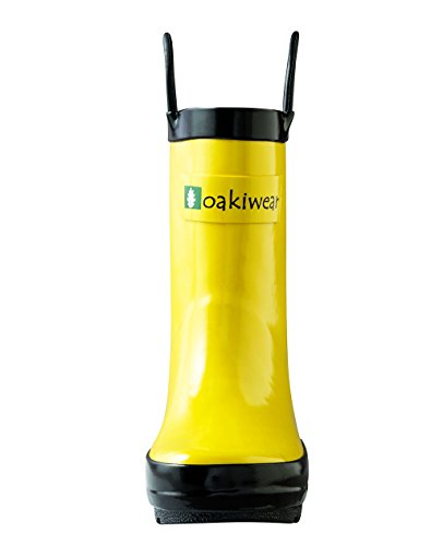 8aae8b4f219db OAKI Kids Waterproof Rubber Rain Boots Easy-On Handles - Buy Online ...