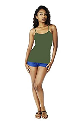 Emma's Mode Junior Basic Long Camisole Top ST-06-Army Green