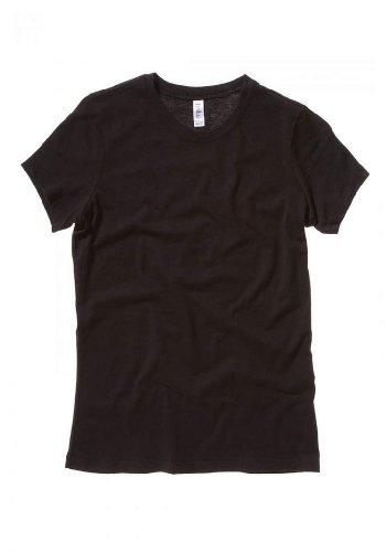 Bella Ladies Super soft 1x1 baby rib knit fabric T Shirt - Black - Medium