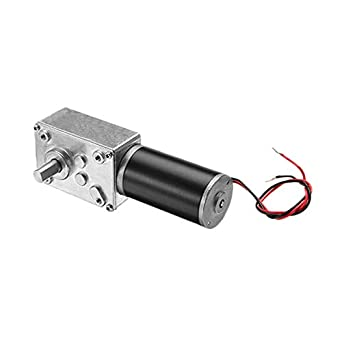 High Torque 24V DC DC Worm Geared Motor With Gear Reducer Turbo Motor 27RPM