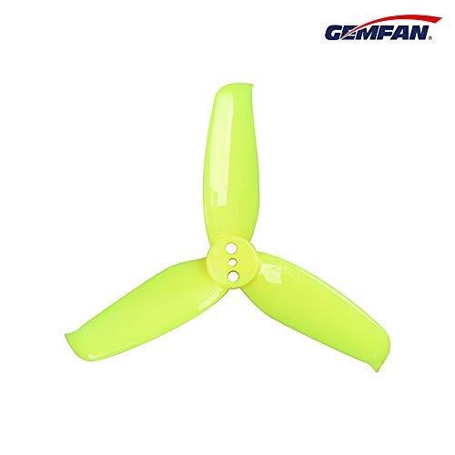 GEMFAN Flash 2540 Durable 3 Blade (Lemon Yellow) - Set of 8