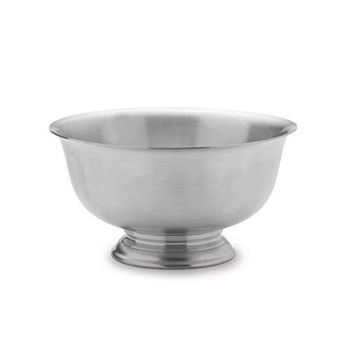 Diamond2Deal Empire Polished Pewter Small Revere Bowl Gift for Christmas