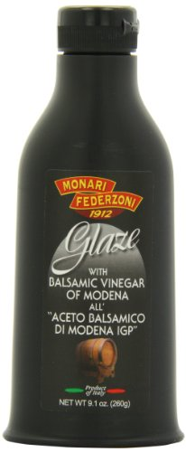 Monari Glaze of Balsamic Vinegar, 9.1-Ounce Units (Pack of 6) Monari Balsamic Glaze