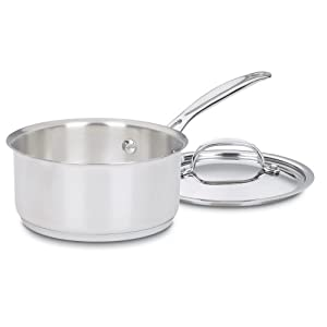 Cuisinart 719-14 Chef's Classic Stainless 1-Quart Saucepan with Cover,Silver 7