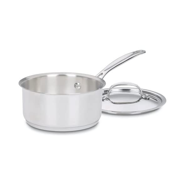 Cuisinart 719-14 Chef's Classic Stainless 1-Quart Saucepan with Cover,Silver 1