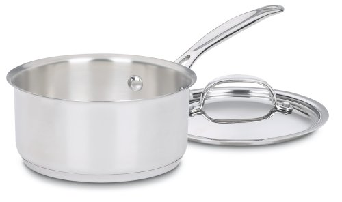 (Cuisinart 719-14 Chef's Classic Stainless 1-Quart Saucepan with Cover)