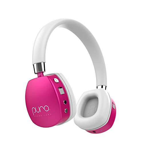 - Puro Sound Labs PuroQuiet Kids Volume-Limiting Noise-Cancelling On-Ear Wireless Headphones (Pink)