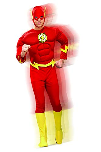 Rubie's Dc Heroes and Villains Collection Deluxe Muscle Chest Flash, Red, X-Large Costume(Adult) ()