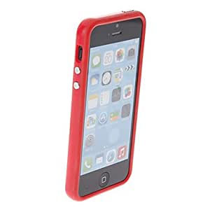 Solid Color TPU Bumper Frame Case for iPhone 5/5S (Assorted Colors) --- COLOR:Red
