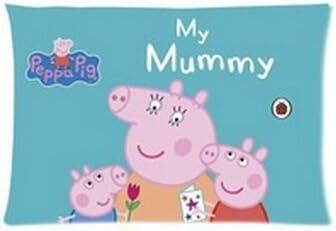 Daily Necessities Dessin anim/é Peppa Pig Taie doreiller personnalis/ée 50,8/x 76,2/cm Deux c/ôt/és Cool Confortable Taie doreiller