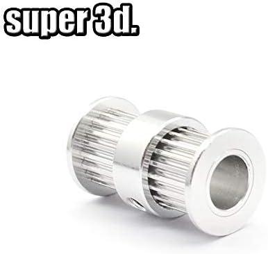 3D Printer GT2 polea de doble cabezal con 20 dientes para cinturón ...