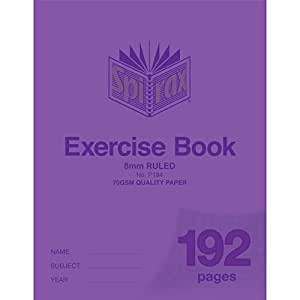 SPIRAX Ruled P194 8mm Exercise Book, 192 Pages, (56194P)