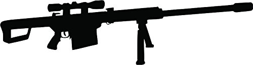 Barret 50 Caliber Die Cut Vinyl Decal Sticker (Caliber Sniper Rifle)
