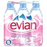 Evian Spring Water, Plastic, 1-Count (Pack of 24)