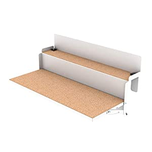 LEVIRA Table Pliante, Table Suspendue de Balcon ForFun, 64 x 35 x 29 – Blanc