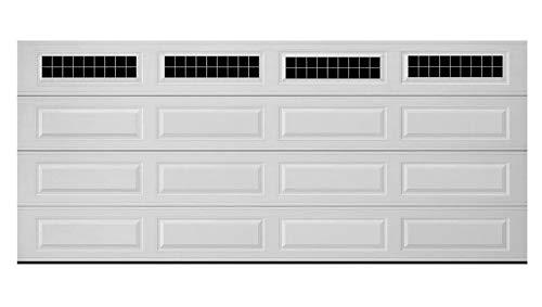 BYRON HOYLE Craftsman - Carriage House Small Block Faux Garage Windows for Wide Panel Doors Vinyl Decals (Window Panel Chart Size)