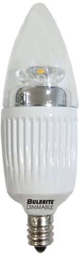 Bulbrite LED5CTC/D 5-Watt Dimmable LED Chandelier, Warm White