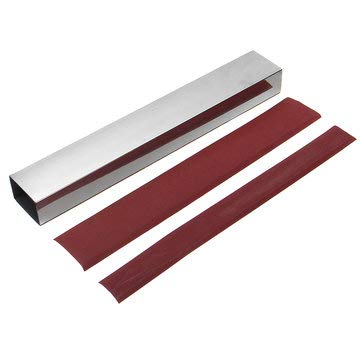 10 Inch Guitar Bass Fret Leveling File Aluminum Beam Luthier Tool with Sanding Paper - Musical Instruments Guitar Parts - 1x Guitar Bass Beam Luthier, 4x Sanding -