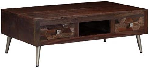 Groothandel Tidyard salontafel van massief hout met stalen poten 100 x 60 x 35 cm aKDtoCF