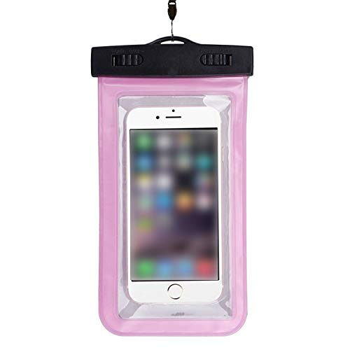 Universal Waterproof Pouch Cell Phones Portable Bag Convenient to Use Lightweight Useful,Hot Pink