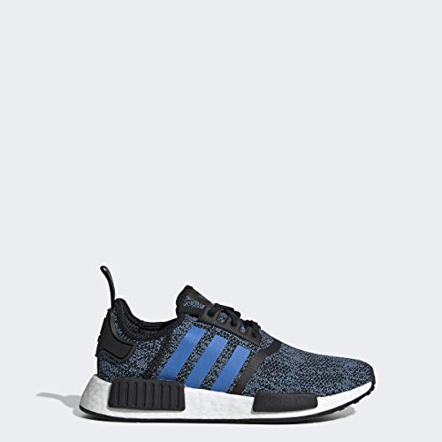 adidas Originals Unisex-Kid's NMD_R1 Running Shoe, Black/True Blue/Utility Black, 5 M US Big Kid