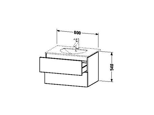 Duravit Waschtischunterschrank wandh. Delos 541x800x540mm 2 SchKa, für 049983, weiss hochglanz, DL63