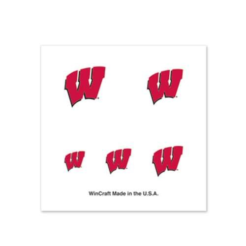 Wisconsin Badgers Fingernail Tattoos - 4 Pack