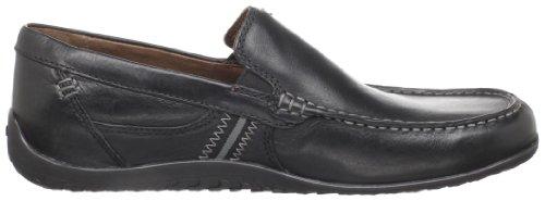 Black Clarks Clarks Plateau Mens Shoe Leather Driving Driving Plateau Shoe Mens rzrwxIa6q