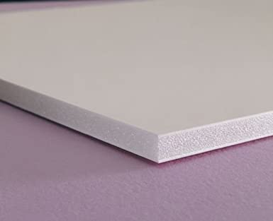 3mm Thick Celtec Expanded PVC Sheet Black 24 Length x 24 Width Satin Smooth Finish
