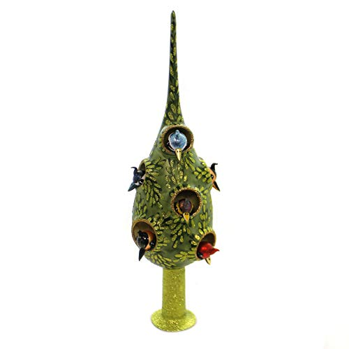 Morawski Tree with Birds TREETOPPER Glass Nests Finial 09584