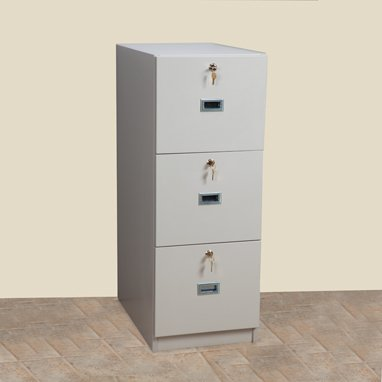 DSS Three Drawer File Cabinet (Beige)