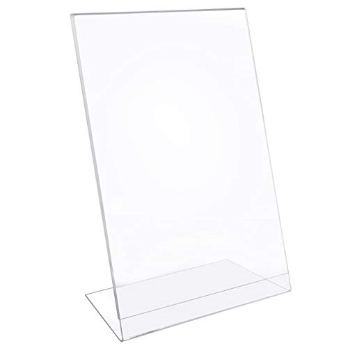 MaxGear Sign Holder 8.5'' X 11'' Slant Back Design Acrylic Sign Holders Clear Frames Table Top Sign Holder Plastic Display Stand - Pack of 6 by MaxGear (Image #2)