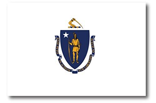 Massachusetts Car Magnet US State Flag Refrigerator Locker SUV Heavy Duty Waterproof