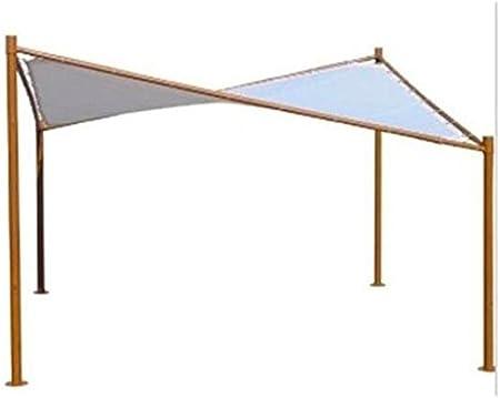 Amicasa. Cenador con Cubierta a Pergola 3.5 x 3.5 Metros Butterfly: Amazon.es: Jardín